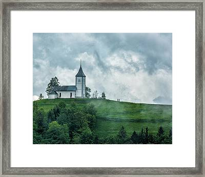 Church In The Clouds Framed Print by Lindley Johnson