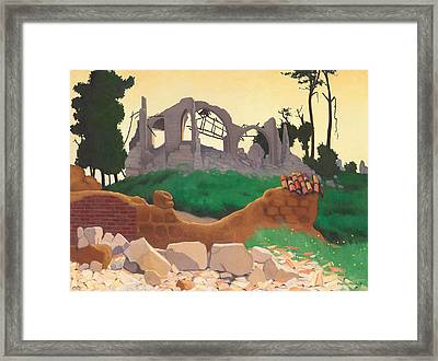 The Church Of Souain Framed Print by Felix Edouard Vallotton