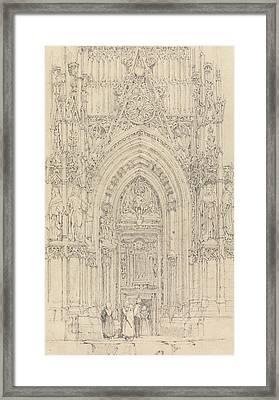 The Church Of St. Wulfran, Abbeville Framed Print by Richard Parkes Bonington