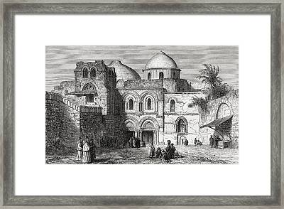 The Church Of The Holy Sepulchre In The Framed Print by Vintage Design Pics