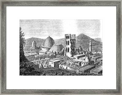 The Church Of The Holy Sepulchre With The Dome Of The Rock  Framed Print by Ludwig Mayers