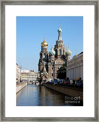 Framed Print featuring the photograph The Church Of The Spilled Blood by Robert D McBain