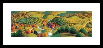 Rural Bridge Framed Prints