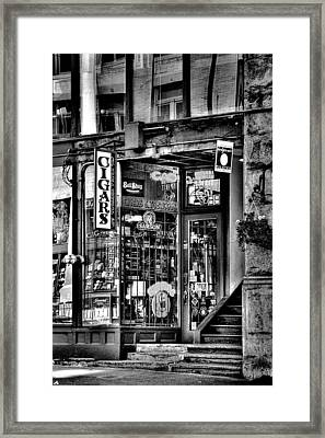 The Cigar Store Framed Print by David Patterson