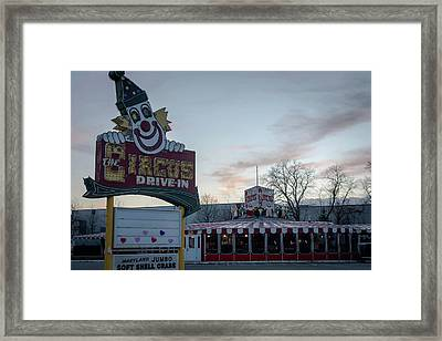 Framed Print featuring the photograph The Circus Drive In Wall Township Nj by Terry DeLuco