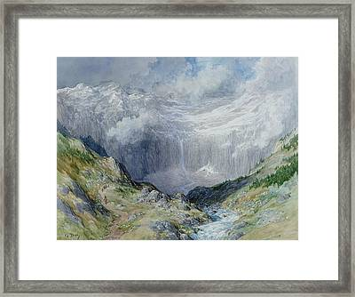 The Cirque At Gavarnie Framed Print by Gustave Dore