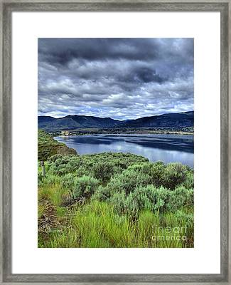 The City And The Clouds Framed Print by Tara Turner