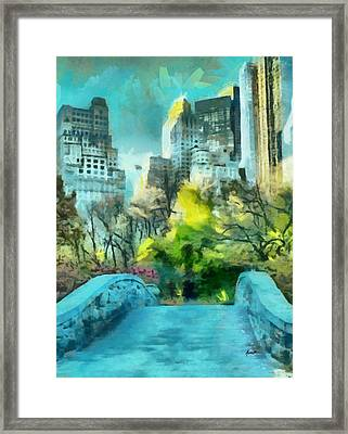 The City Framed Print by Anthony Caruso