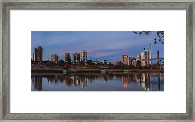 The City At Sunset Framed Print by Phillip Burrow