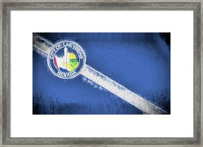 Framed Print featuring the digital art The City Flag Of Las Vegas by JC Findley
