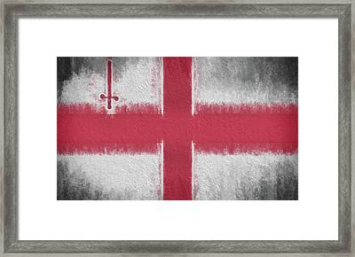 Framed Print featuring the digital art The City Flag Of London by JC Findley