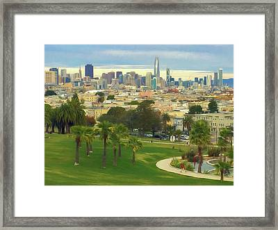 The City From Dolores Park Framed Print