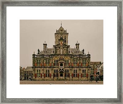 The City Hall Of Delft The Netherlands Framed Print