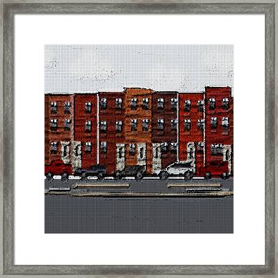 The City Framed Print by Jacquin