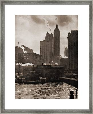 The City Of Ambition 1910, By Alfred Framed Print by Everett