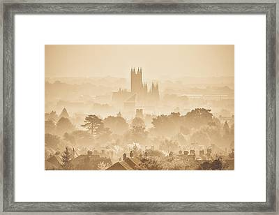 The City Of Canterbury Framed Print by Ian Hufton