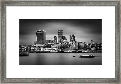 The City Of London Mono Framed Print