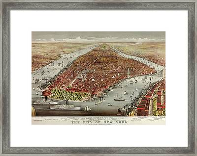 The City Of New York Framed Print by American School