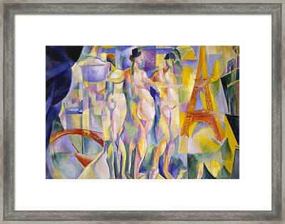 The City Of Paris Framed Print by Robert Delaunay