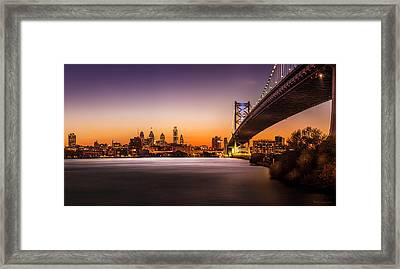 The City Of Philadelphia Framed Print by Marvin Spates