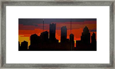 Framed Print featuring the painting The City Sleeps by Ashley Price