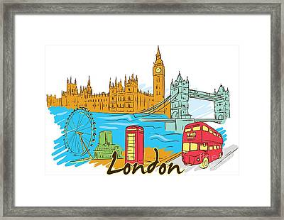 Framed Print featuring the digital art The City - London by Stanley Mathis