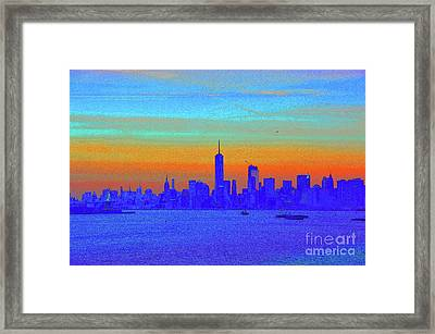 The City That Never Sleeps Framed Print by Robyn King