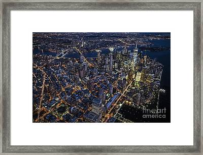 Framed Print featuring the photograph The City That Never Sleeps by Roman Kurywczak