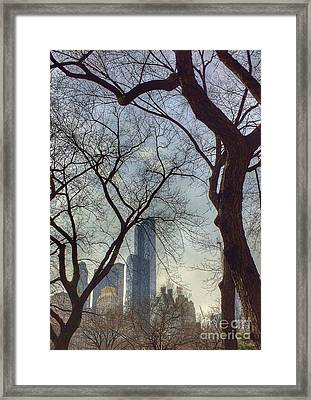 The City Through The Trees Framed Print