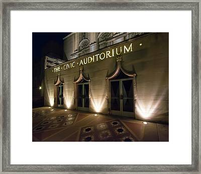 The Civic Auditorium Framed Print