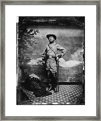 The Civil War, Colonel John S. Mosby Framed Print by Everett