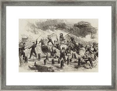 The Civil War In America  General Burnside's Expedition Framed Print by American School