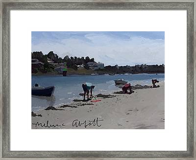 The Clam Diggers - Annisquam River  Framed Print