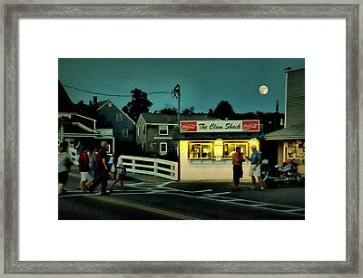 The Clam Shack Framed Print by Diana Angstadt