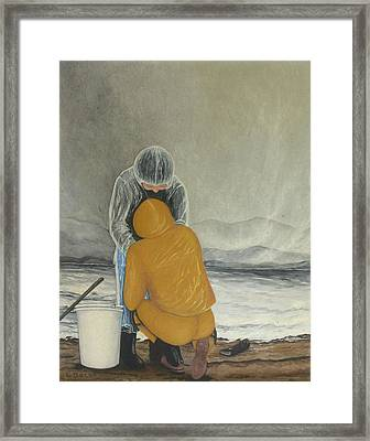 The Clamdigger Framed Print by Georgette Backs