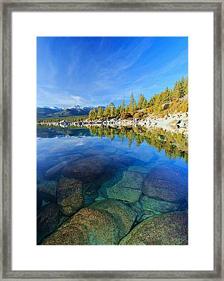 The Clarity Of Lake Tahoe Framed Print