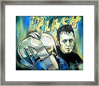 The Clash Joe Strummer Framed Print