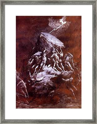 The Clash Of The Titans Framed Print