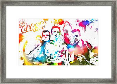 The Clash Paint Splatter Framed Print