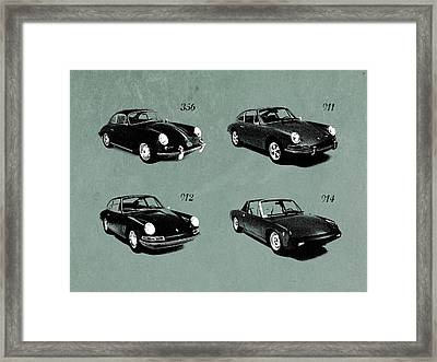 The Classic Porsche Collection Framed Print by Mark Rogan