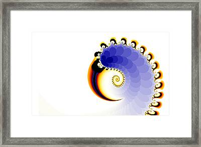Framed Print featuring the digital art the Claw by Fran Riley