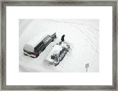 The Clean Off Framed Print