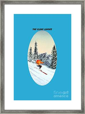 The Clear Leader Skiing Framed Print by Bill Holkham
