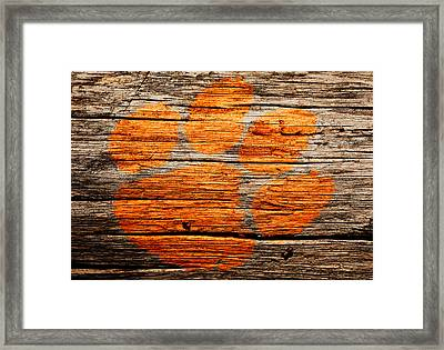 The Clemson Tigers 1a Framed Print