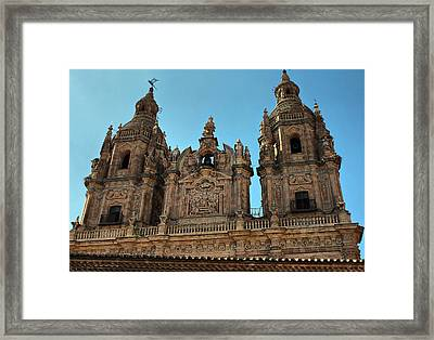 Framed Print featuring the photograph The Clerecia Church In Salamanca by Farol Tomson