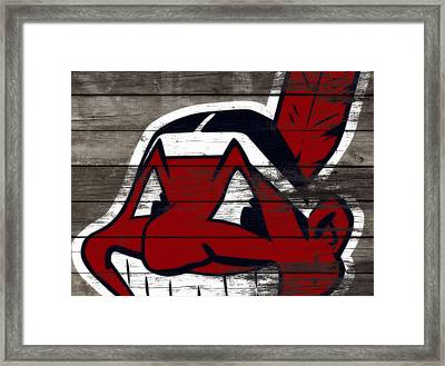 The Cleveland Indians 3c    Framed Print by Brian Reaves