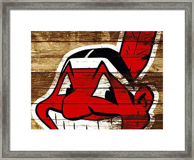 The Cleveland Indians 3f    Framed Print by Brian Reaves
