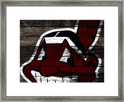 The Cleveland Indians 3h    Framed Print by Brian Reaves