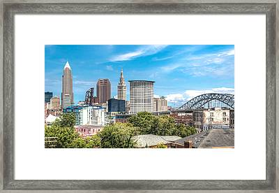 The Cleveland Skyline Framed Print