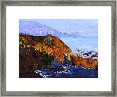 The Cliff 1 Framed Print